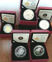 AWESOME GROUPING OF FIVE ROYAL CANADIAN MINT COINS> MINT PRI