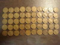 1933 LINCOLN WHEAT CENT AVERAGE CIRCULATED ROLL OF 50