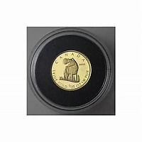2007 ROYAL CANADIAN MINT   WOLF 1/25 PURE GOLD COIN IN CASE