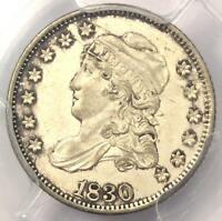 1830 CAPPED BUST HALF DIME H10C - PCGS UNCIRCULATED DETAILS -  MS BU COIN