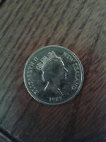 1989  NEW ZEALAND  5 CENT  COIN