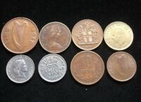 EIGHT ASSORTED FOREIGN COINS LOT CL81