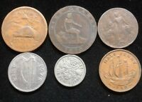 SIX ASSORTED FOREIGN COINS LOT CL82