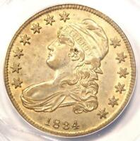 1834 CAPPED BUST HALF DOLLAR 50C - ANACS AU50 DETAILS -  CERTIFIED COIN