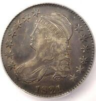 1821 CAPPED BUST HALF DOLLAR 50C - ICG EXTRA FINE 45 EF45 -  DATE - CERTIFIED COIN