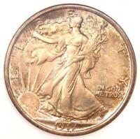1917 WALKING LIBERTY HALF DOLLAR 50C - NGC MINT STATE 66 -  IN MINT STATE 66 - $2,800 VALUE