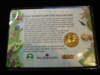1993 AUSTRALIAN WATER IS LIFE 1 DOLLAR COIN UNCIRCULATED CARDED