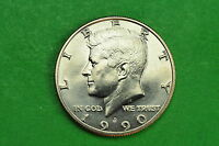 1990 D GEM BU  MINT STATE KENNEDY US HALF DOLLAR COIN