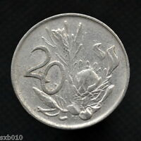 SOUTH AFRICA COIN 20 CENTS  KM86  AFRICA AGE RANDOM.
