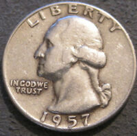 AS SHOWN   1957 D WASHINGTON QUARTER // 90  SILVER // MC 003