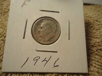 1946 // F  // ROOSEVELT DIME  //  ADDED ITEMS  SHIP  FREE // 168