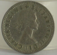 1958 QUEEN ELIZABETH SIXPENCE COIN