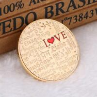 LOVE POLL GOLD PLATED COMMEMORATIVE COIN ART COLLECTION TOURISM COLLECTIBLE GIFT