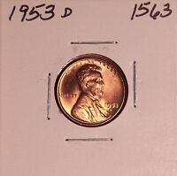 1953 D LINCOLN WHEAT CENT 1563, BU-SHIPS FREE