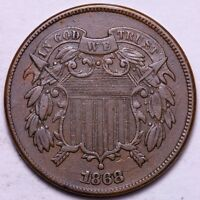 AU 1868 2 CENT PIECE           K7SHM