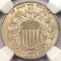 1883/2 SHIELD NICKEL 5C COIN FS-303 VARIETY - NGC UNCIRCULATED DETAIL UNC MS