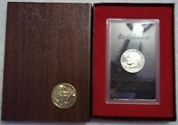 1974-S EISENHOWER SILVER PROOF DOLLAR-BROWN BOX- LOW MINTAGE