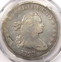 1797 DRAPED BUST SMALL EAGLE SILVER DOLLAR $1 - PCGS FINE DETAILS -  COIN