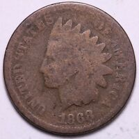 1868 INDIAN HEAD CENT PENNY       K6ACF