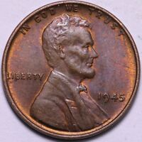 BU 1945 LINCOLN WHEAT CENT PENNY             K7TTC