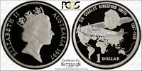 1997 KINGSFORD SMITH SMALL HEAD $1 COIN PCGS PR68DCAM.