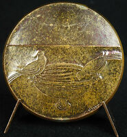GOLD MEDAL'AMOUR BE TWO FOR BE HEUREUX MOSAIC RAVENNA 1976 LOVE MEDAL