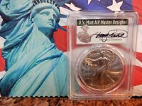 THOMAS S CLEVELAND 2017-W PCGS MS70 SILVER EAGLE/ FIRST STRIKE ISSUE POP100
