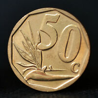 SOUTH AFRICA 50 CENTS COIN. AFRICA. UNC.  RANDOM AGE.