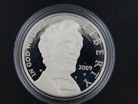 2009 P PROOF ABRAHAM LINCOLN COMMEMORATIVE SILVER DOLLAR WITH OGP & COA