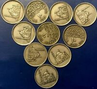 1984 EGYPT LOT OF 10 COINS  10 PIASTERS AVERAGE CIRCULATED CHEAP
