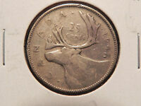 1947  WITH MAPLE LEAF  TWENTY FIVE CENTS CANADA  NICE