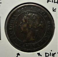 1896 CANADA LARGE CENT  FILLED