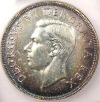 1948 CANADA DOLLAR   ICG MS60 DETAILS    KEY DATE BU UNCIRCULATED COIN