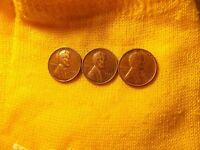 1940 D;1941 S;1942 S LINCOLN WHEAT CENTS  3-LOWEST MINTAGE OF THE 40'S SALE