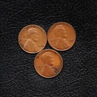 3 COINS 1 CENT ONE CENT 1940 P - 1940 D - 1940 S -SHIP 50CTS PER ITEM ADDED