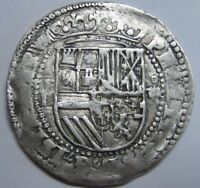 PHILIP II BOLIVIA 4 REAL COB POTOSI P/P   L/L EXCEPTIONAL SPAIN COLONIAL SPANISH