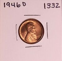 1946 D LINCOLN WHEAT CENT 1332, GEM-FREE-SHIPPING