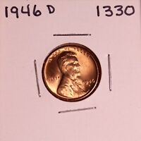 1946 D LINCOLN WHEAT CENT 1330, GEM-FREE-SHIPPING