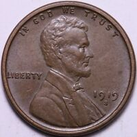 AU 1919-S LINCOLN WHEAT CENT PENNY                   R3UC