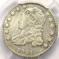 1821 CAPPED BUST DIME 10C SMALL DATE - PCGS EXTRA FINE  DETAIL EF -  COIN