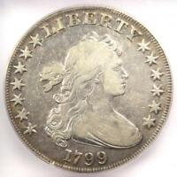 1799 DRAPED BUST SILVER DOLLAR $1 - CERTIFIED ICG F15 -  COIN