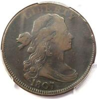 1807 DRAPED BUST LARGE CENT 1C LARGE FRACTION - PCGS F15 -  CERTIFIED COIN