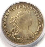 1797 DRAPED BUST DIME 16 STARS 10C COIN - PCGS GENUINE - VF DETAILS
