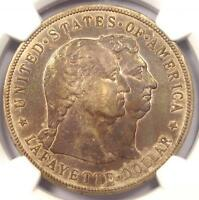 1900 LAFAYETTE SILVER DOLLAR $1 - NGC AU DETAILS -  CERTIFIED COIN