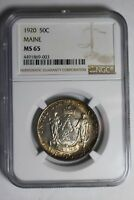 1920 MAINE COMMEMORATIVE SILVER HALF DOLLAR NGC MINT STATE 65 003