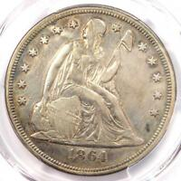 1864 SEATED LIBERTY SILVER DOLLAR $1 - PCGS EXTRA FINE  DETAILS -  CIVIL WAR DATE