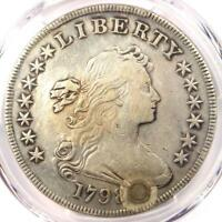 1798 DRAPED BUST SILVER DOLLAR $1 - CERTIFIED PCGS EXTRA FINE  DETAILS EF -  COIN