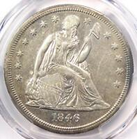 1846-O SEATED LIBERTY SILVER DOLLAR $1 - PCGS AU DETAILS -  DATE COIN