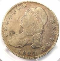 1820/19 CAPPED BUST HALF DOLLAR 50C COIN - PCGS VF DETAILS -  OVERDATE