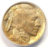 1914/3 BUFFALO NICKEL 5C COIN LDS - ANACS AU58 -  OVERDATE VARIETY